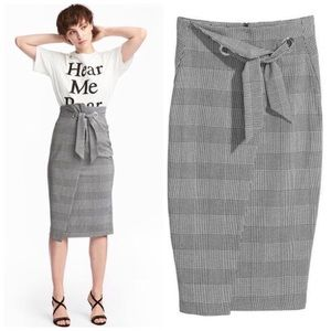 H&M | Houndstooth Patterned Skirt 10